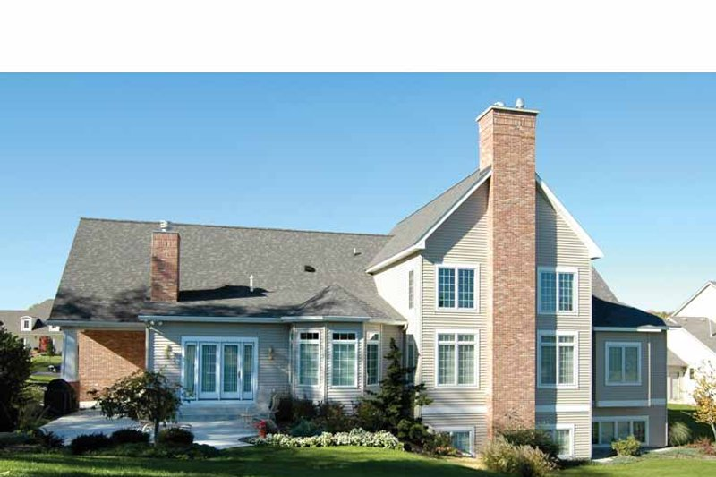 Traditional Exterior - Rear Elevation Plan #928-222 - Houseplans.com