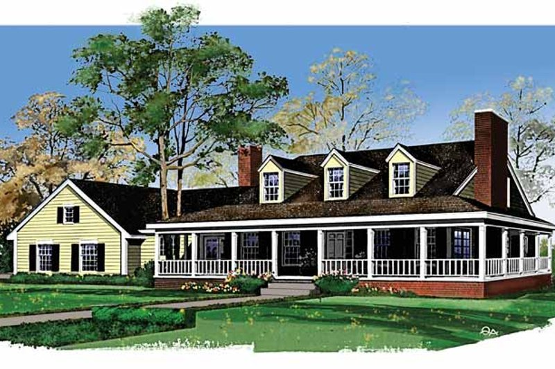 Country Exterior - Front Elevation Plan #72-760 - Houseplans.com