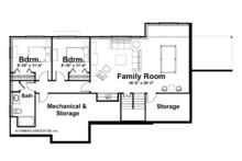 Craftsman Floor Plan - Lower Floor Plan Plan #928-164