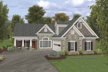Dream House Plan - Craftsman Exterior - Front Elevation Plan #56-692