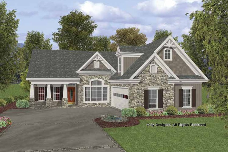 Craftsman Exterior - Front Elevation Plan #56-692 - Houseplans.com