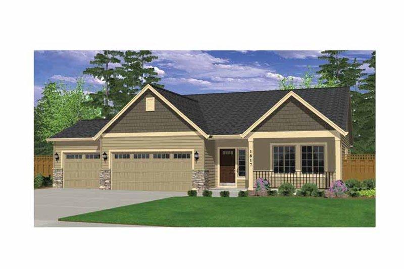 Ranch Exterior - Front Elevation Plan #943-21 - Houseplans.com