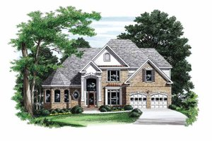 House Plan Design - Traditional Exterior - Front Elevation Plan #927-773
