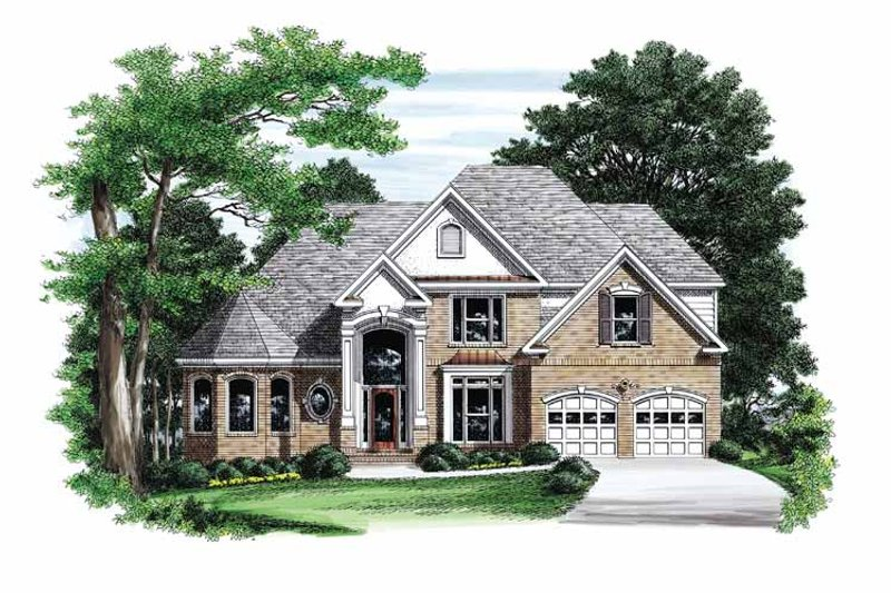 Traditional Exterior - Front Elevation Plan #927-773 - Houseplans.com