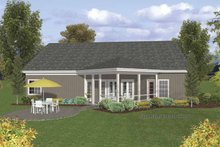 Craftsman Exterior - Rear Elevation Plan #56-692