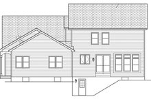 Colonial Exterior - Rear Elevation Plan #1010-191
