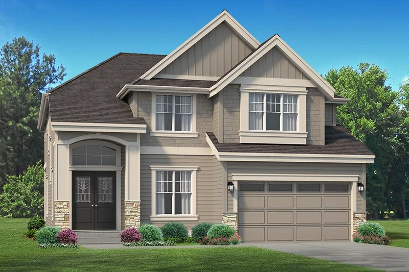 House Design - Colonial Exterior - Front Elevation Plan #1066-76