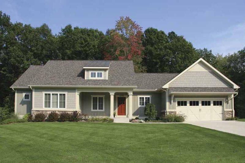 Architectural House Design - Craftsman Exterior - Front Elevation Plan #928-132