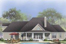 Architectural House Design - Victorian Exterior - Rear Elevation Plan #929-823