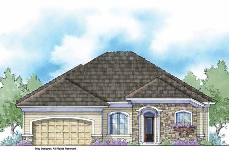 Country Exterior - Front Elevation Plan #938-35