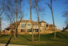 Dream House Plan - Rear view- 9400 square foot European home