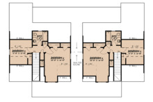 Craftsman Floor Plan - Upper Floor Plan Plan #923-123