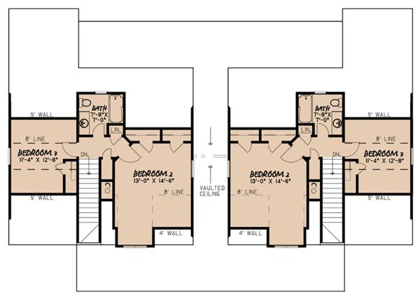Home Plan - Craftsman Floor Plan - Upper Floor Plan #923-123