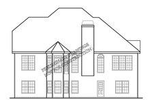 Country Exterior - Rear Elevation Plan #927-691