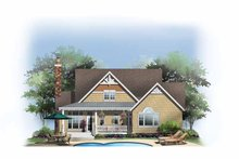 House Plan Design - Craftsman Exterior - Rear Elevation Plan #929-849