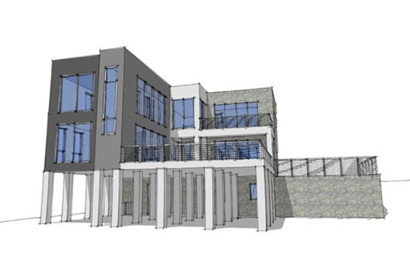 Modern Exterior - Front Elevation Plan #64-196 - Houseplans.com