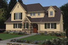 Colonial Exterior - Front Elevation Plan #48-870