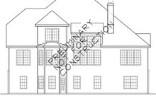 Country Exterior - Rear Elevation Plan #927-695