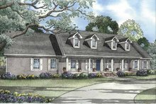 House Plan Design - Colonial Exterior - Front Elevation Plan #17-3182