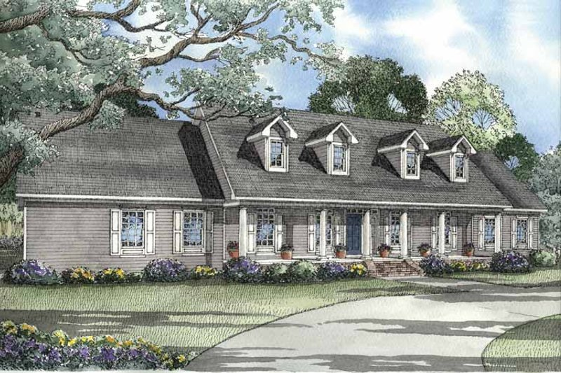 Colonial Exterior - Front Elevation Plan #17-3182