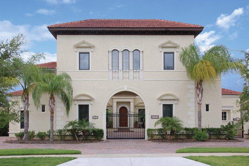 House Plan Design - Mediterranean Exterior - Front Elevation Plan #1058-17