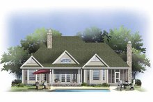 Craftsman Exterior - Rear Elevation Plan #929-802