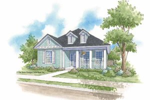 Country Exterior - Front Elevation Plan #930-397
