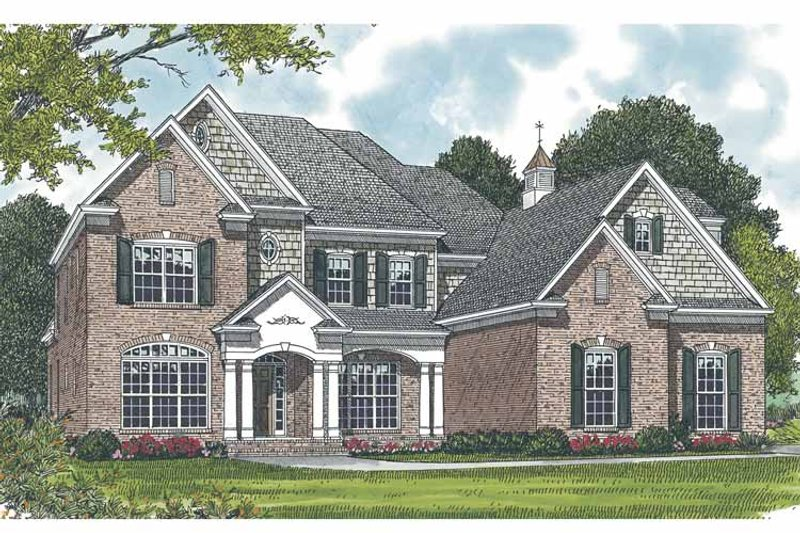 Traditional Exterior - Front Elevation Plan #453-556 - Houseplans.com