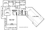 Bungalow Style House Plan - 4 Beds 4.5 Baths 4013 Sq/Ft Plan #117-581 Floor Plan - Main Floor Plan