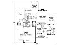 Craftsman Floor Plan - Main Floor Plan Plan #124-1212