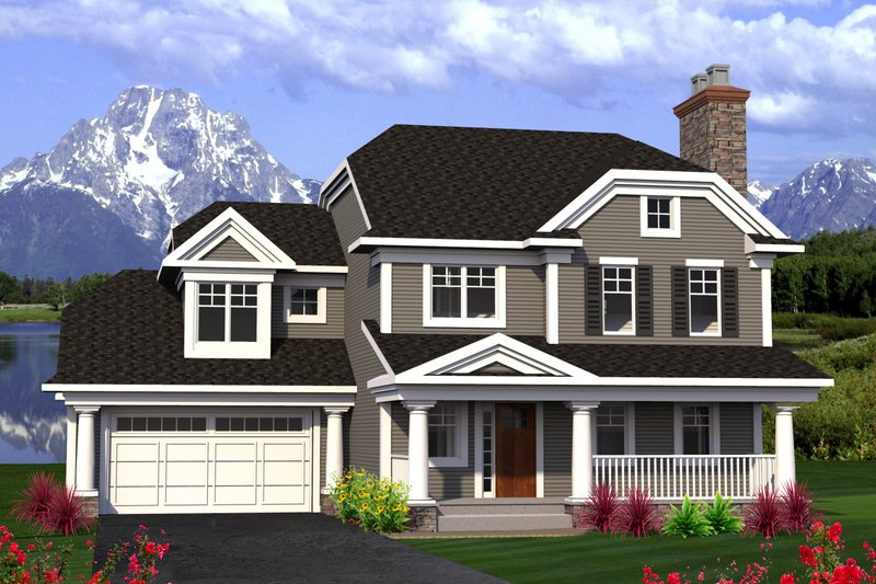 Home Plan - Traditional Exterior - Front Elevation Plan #70-1199