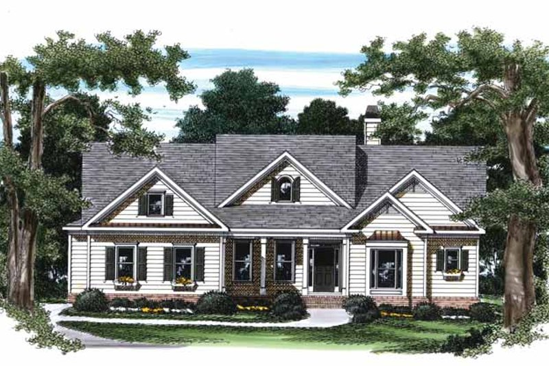 Country Exterior - Front Elevation Plan #927-791