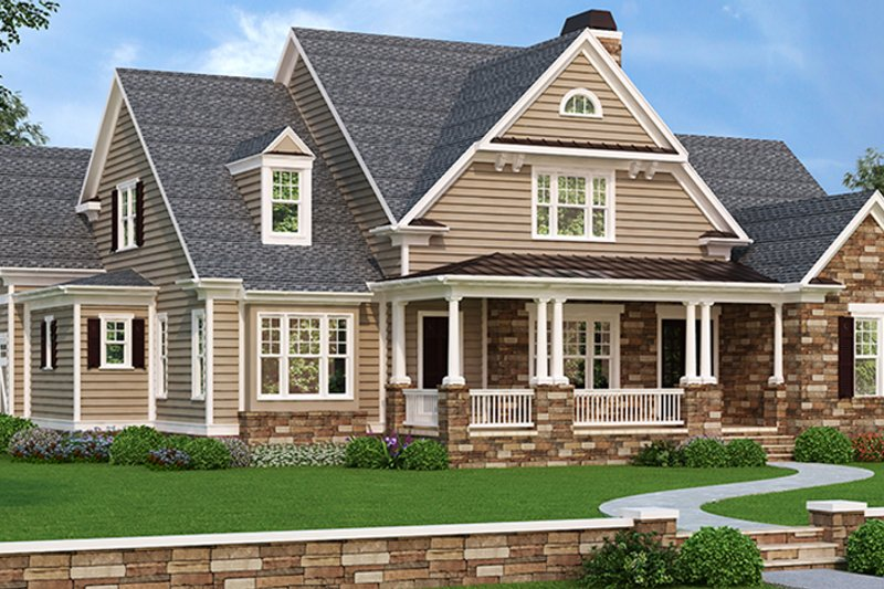 Farmhouse Exterior - Front Elevation Plan #927-978