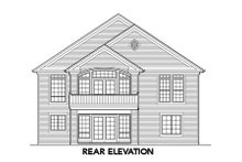 Home Plan - Traditional Exterior - Rear Elevation Plan #48-285