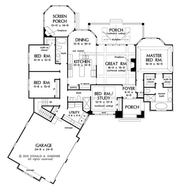European Floor Plan - Main Floor Plan Plan #929-958