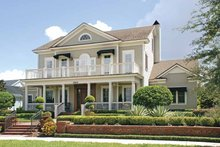 Colonial Exterior - Front Elevation Plan #1019-4