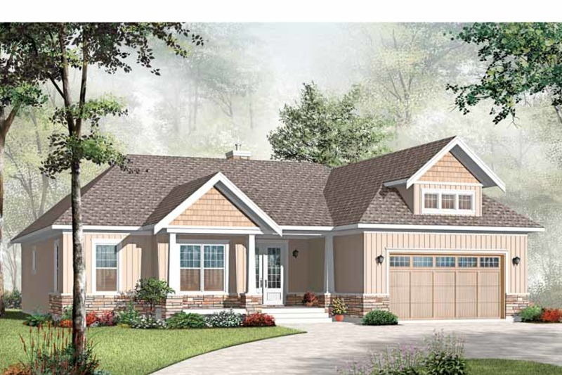 Traditional Exterior - Front Elevation Plan #23-2528 - Houseplans.com