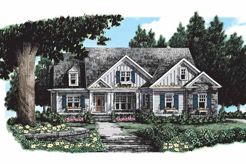 Ranch Exterior - Front Elevation Plan #927-261