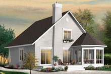 House Design - Traditional Exterior - Rear Elevation Plan #23-2610