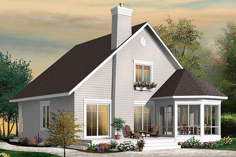 House Plan Design - Traditional Exterior - Rear Elevation Plan #23-2610