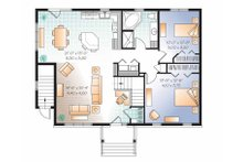 Colonial Floor Plan - Main Floor Plan Plan #23-2522