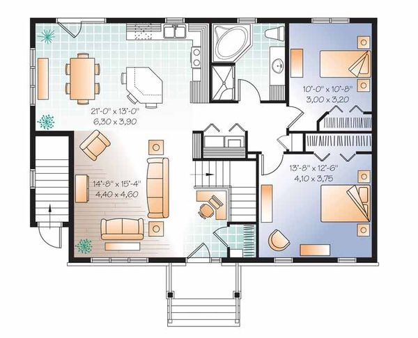 Colonial Floor Plan - Main Floor Plan Plan #23-2522