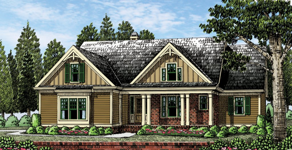 Craftsman style house plan 4 beds 3 5 baths 2867 sq ft for Craftsman vs mission style