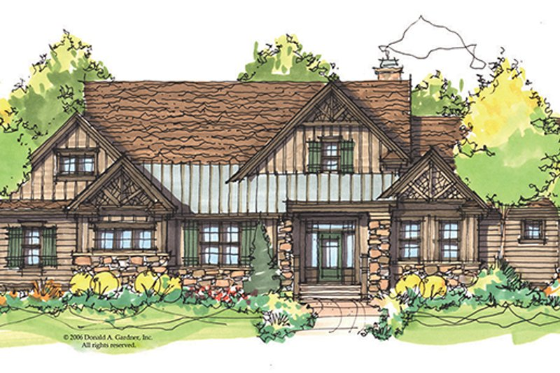 Craftsman Exterior - Front Elevation Plan #929-934
