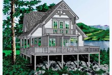 Home Plan - Traditional Exterior - Rear Elevation Plan #118-144