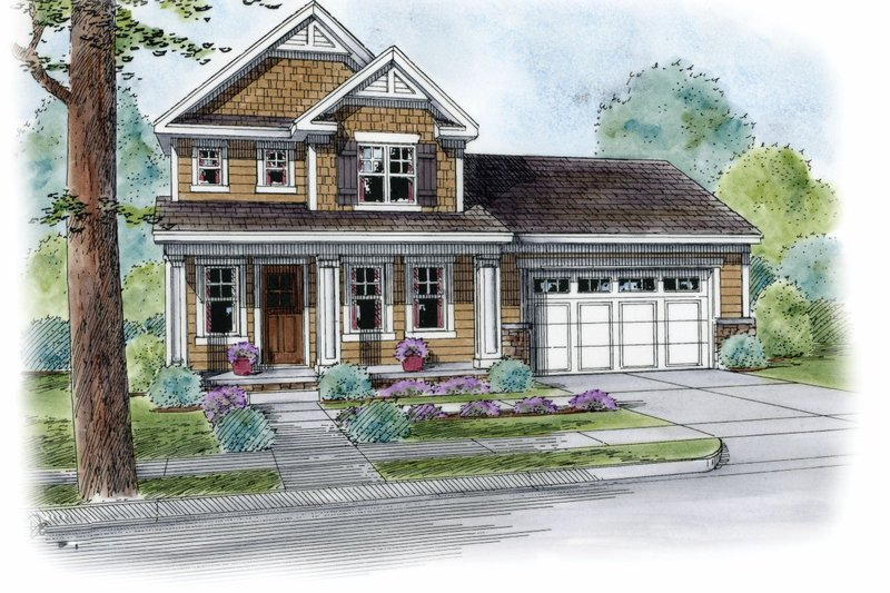 Craftsman Exterior - Front Elevation Plan #20-2189