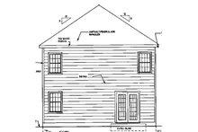 Traditional Exterior - Rear Elevation Plan #3-270