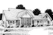 House Design - Farmhouse Exterior - Rear Elevation Plan #20-239