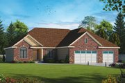 Traditional Style House Plan - 2 Beds 2 Baths 2290 Sq/Ft Plan #20-2257 Exterior - Front Elevation