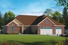 Home Plan - Traditional Exterior - Front Elevation Plan #20-2257